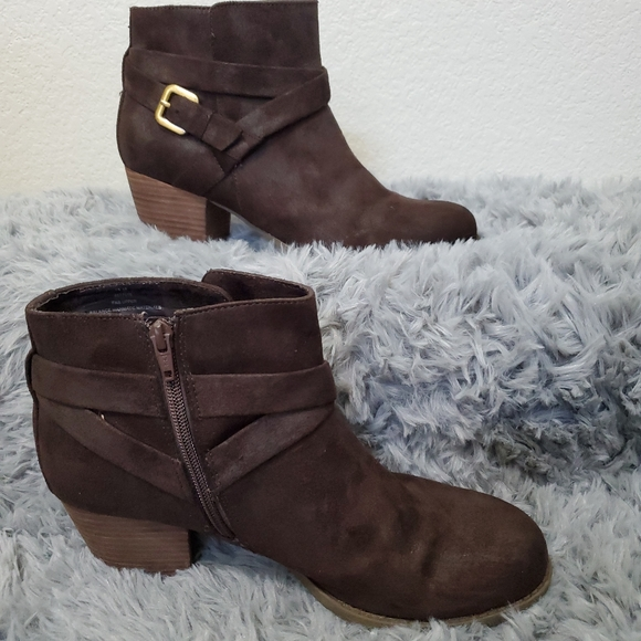 Womens Crown Vintage Brown Ankle Boot SZ 11